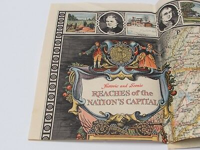 Vintage National Geographic Map Historic & Scenic Reaches of the Nations Capital