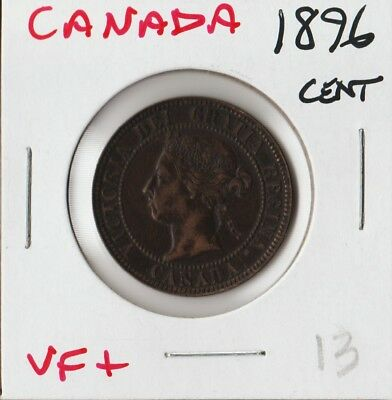 Canada 1896 | One Cent 1¢ | Vf+