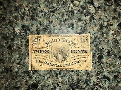 3 Cents Fractional Note