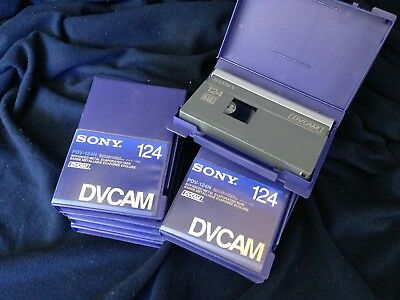 """x10 Sony 124 DVCAM """"One Pass"""" Tapes"""