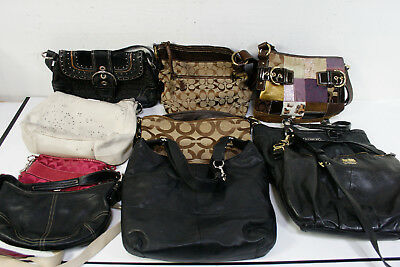 Lot of 10 Coach Bags Wholesale Canvas Leather Suede Jacquard