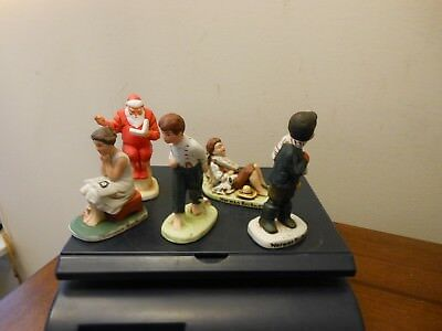 Lot Of 5 Vintage Norman Rockwell Figurines  Gorgeous Condition  Dave Grossman