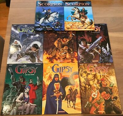 French Graphic Novels - Le Scorpion & Gipsy (complete) - Marini