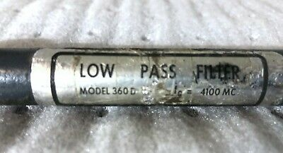 HP Low Pass Filter Model 360D