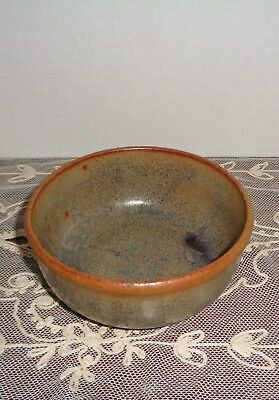 Studio Art Pottery Bowl with Hairs Fur Style Glaze Signed Hobbs NICE!