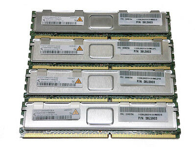 Ibm 4Gb 4X 1Gb 39M5784 Pc2-5300 2Rx8 Cl5 38L5903 Ram E Server Memory X3500 X365