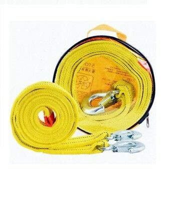 4M*5TONNE 5T Tow Towing Pull Rope Strap Heavy Duty Road Recovery Car Van 4x4