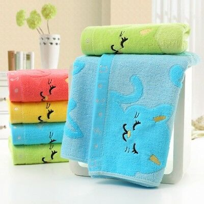 Baby Kids Cotton Soft Bath Towels Children Washcloth Face Hand Towel Gifts