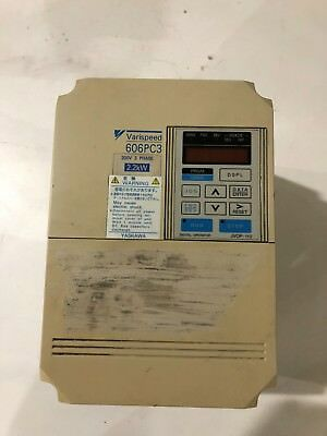 Yaskawa Varispeed 606PC3, Model CIMR-PCA22P2, 3 Phase, AC Inverter, 200V, 2.2kw,