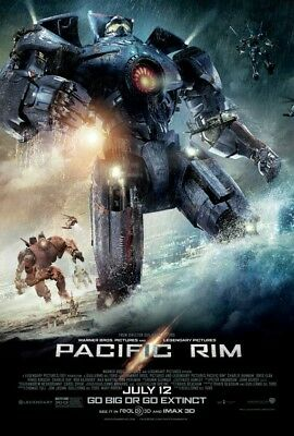 Pacific Rim Uprising & Pacific Rim Original 27x40 Double Sided Movie Posters DS