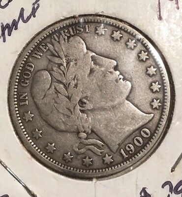 1900-O BARBER HALF DOLLAR - 90% SILVER COIN - only 2.7 million minted