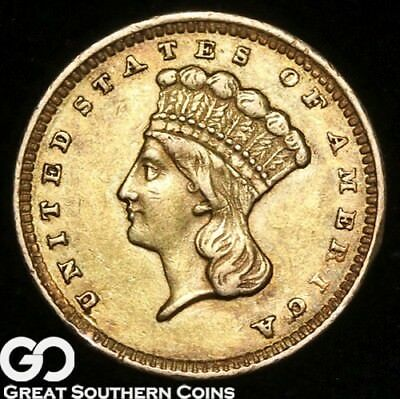 1856 Gold Dollar, $1 Gold Indian Princess, Type 3 ** Free Shipping!