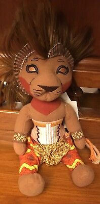 The Lion King Simba Plush Stuffed Toy from the Broadway Musical Disney