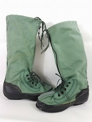 Military Mukluk Boots Mens 8 9 Authentic USGI Extreme Cold Weather Green N-1B