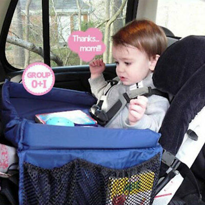 Baby Safety Waterproof Car Seat Table Play Drawing Board Tray Kids Accessories