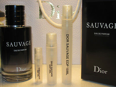 Authentic Christian Dior Sauvage Homme Edp Parfum Sample Travel 2ml