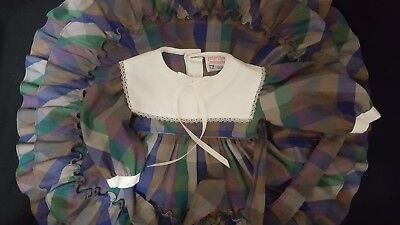 Vintage Martha's Miniatures We're Fully Full Circle Plaid Party Dress 12-18M?