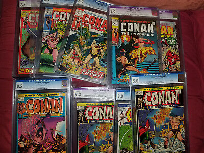 (10) CGC Conan the Barbarian Barry Windsor Smith Cover Lot