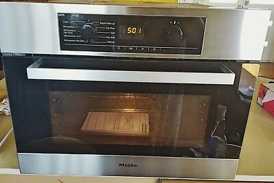 Miele H 50 40 BM Clean steel combination microwave oven impeccable!