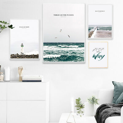 Nordic Decoration Landscape Canvas Poster Sea Beach Wall Art Print Home Decor