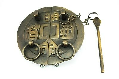 Chinese Furniture Br Hardware Cabinet Door Face Plate Handle Copper Pull Coin