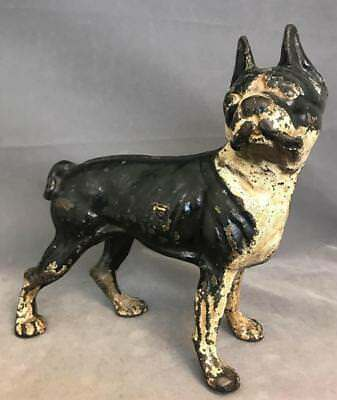 Antique Hubley Boston Terrier cast iron doorstop. Handpainted with or... Lot 60A