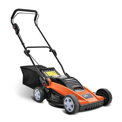 NEW Lawn Mower Portable Cordless Electric Lawnmower Lithium Battery Power @TOP
