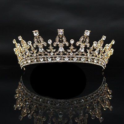 Rhinestone Crystal Crown Tiara, Wedding Prom Queen Quinceanera Pageant Princess