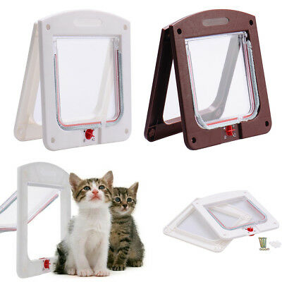 Pet door 4 way Lockable Small Medium Large Cat Puppy Flap Magnetic Door Frame