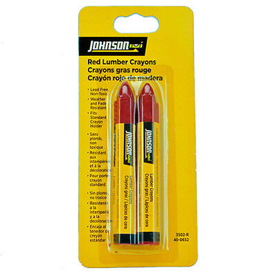 Johnson Lumber Crayons Red Jl3502-R Lead Free Non-Toxic Weather Fade Resistant
