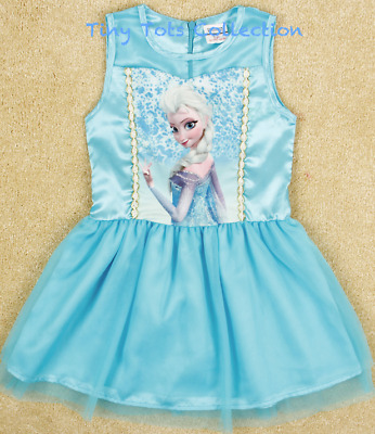 New with tag girls Frozen party dress Elsa Anna size 4