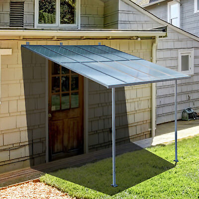 Outdoor Wall Mounted Door Awning Patio Canopy Cover Sun Shade Polycarbonate & OUTDOOR WALL Mounted Door Awning Patio Canopy Cover Sun Shade ...