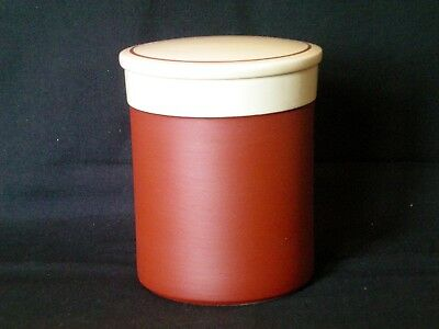 "Hornsea Cinnamon Covered Preserve Pot 4"" Tall Very Good Condition Vintage ref(A)"