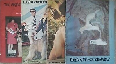 4 issues of Afghan Hound Review 1975-1977