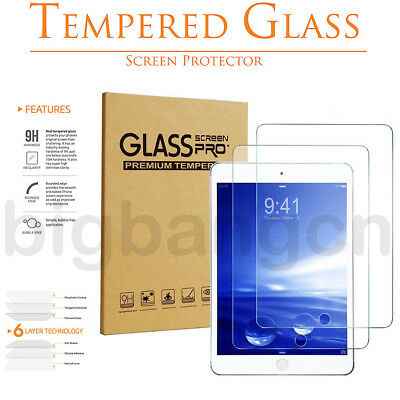 Tempered GLASS Screen Protector For iPad 2017 2 3 4 5 Pro 9.7 Mini Air Lot Bu1