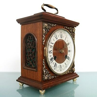 HERMLE Mantel TOP Clock Bell CHIME Vintage Germany Mid Century Vintage SERVICED