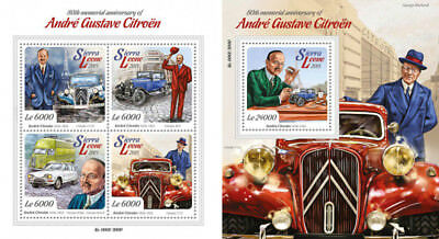 Andre-Gustave Citroen Cars Transport Motor Vehicles Sierra Leone MNH stamp set