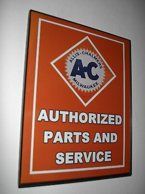 AC Allis Chalmers Farm Tractor Barn Parts Framed Advertsing Print Man Cave Sign