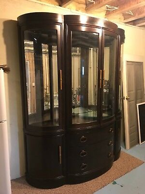 BERNHARDT China Cabinet. Cherry Very Good Condition