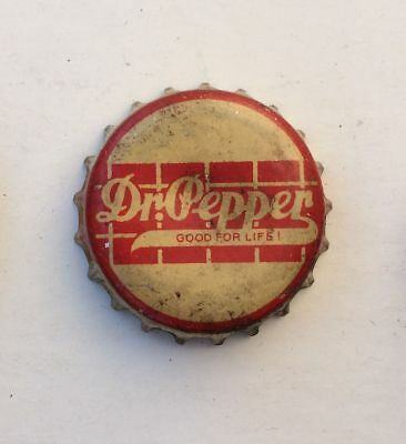 USED cork Bottle cap crown Dr pepper SODA can ACL cone sign top flat sign label