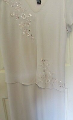 Ladies size 16, Dress, 1 pcs./looks like 2, beige, beading, Mother of Bride