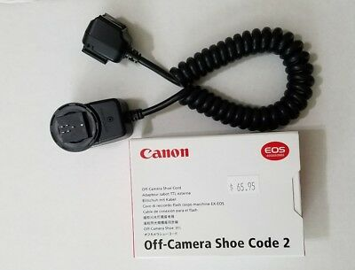 Genuine Canon Off Camera Shoe Cord 2 Flash Hot Shoe Cable Made in Japan  EOS