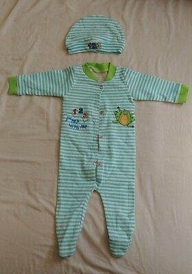 Funkoos 123 Jump Organic Cotton Sleepsuit for Baby Infant with Hat 0 - 3 months