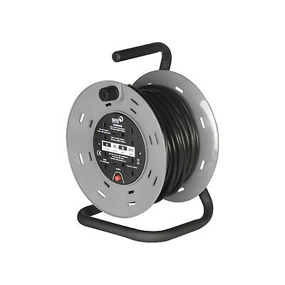 SMJ Heavy-Duty Cable Reel with Cut Out 4 Socket 50m CTH5013