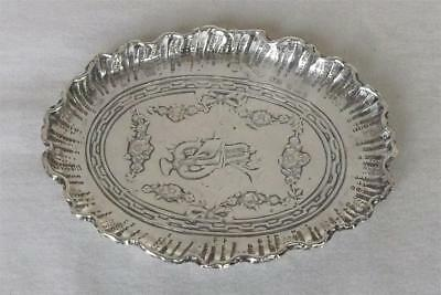 A Stunning Antique Solid Sterling Silver German Hanau Dish Import Chester 1908.