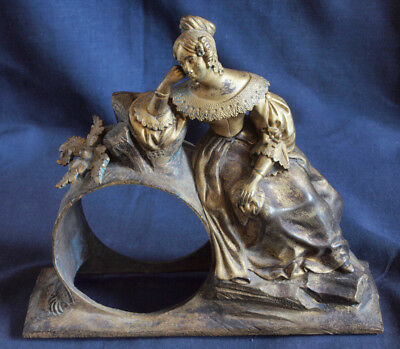 Antique French Gilded Bronze Figural Clock Case