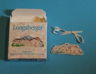 Longaberger Easter 2001 Bunny Tie-On  NEW in Box Made in the USA
