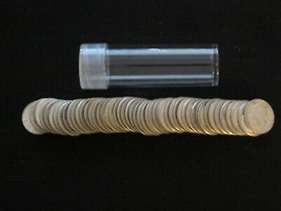 Roll of 50 Roosevelt Dimes 90% Silver Mixed Dates Circulated