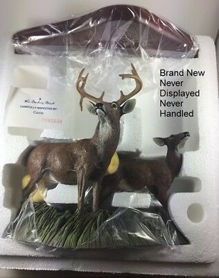 "White-Tail Deer Sculpture ""Fall Retreat"" Danbury Mint New in Box Never Displayed"