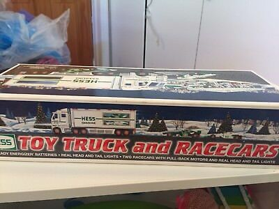 2003 Hess Toy Truck and Race Cars Collectible New In Box
